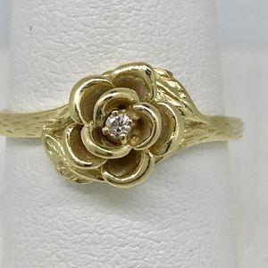 Jewelry - .10 ctw real diamond set 14kt yellow gold